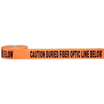 - Morris Products Underground Electrical Caution Tape - 3-inch Width - Detectable from 12-18 Inch Depths - Orange - Printed With Caution Buried Fiber Optic Line Below - 1,000 ft. Length