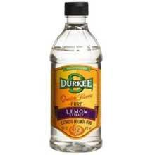 Durkee Pure Lemon Extract - 16 oz. bottle, 6 per case