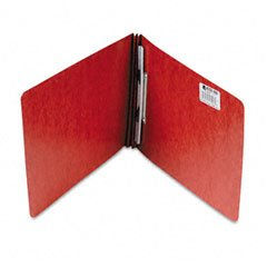 Acco Pressboard Report Cover, Spring Clip, Letter, 2'' Capacity, Earth Red - (Pack of 25)