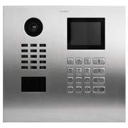 (DoorBird IP Video Door Station D21DKH, Brushed Stainless Steel, Flush-mounted (horizontal) Display Module - Multi Tenants - Access Control- POE Capable)