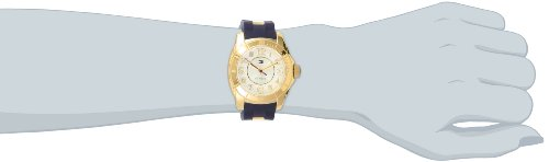 Tommy Hilfiger Women's 1781307 Casual Sport Gold Plated Case and Links with Silicone Strap Watch