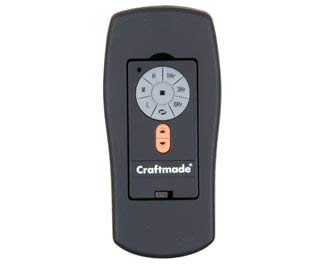 Craftmade RT-ICS2-AG, Wall Control with Clamshell Remote, 3 Fan Speeds and Reverse, Aged Bronze Tex