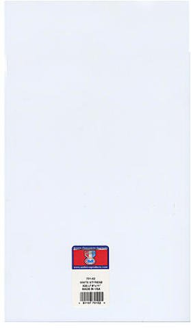- Brand New Midwest Super White Styrene Sheets (Thickness: 0.020 In./0.50 mm) - 7.6 In. x 11 In. Case Pack 5Brand New