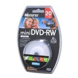 Memorex Mini DVD-RW - DVD-RW (8cm) X 20 - 1.4 GB - Storage Media (K89229) Category: DVD Media 1.4 Gb Dvd Media