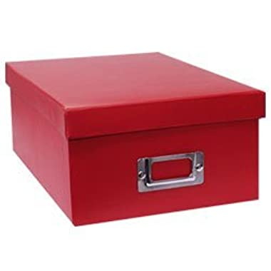 PHOTO STORAGE BOXES, HOLDS OVER 1,100 PHOTOS UP TO 4 X6  - BRIGHT RED - Photo Album