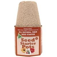 All Natural Fiber Seed Starter Round Pots