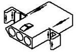 Molex Incorporated 03-09-1081 TERMINAL HOUSE; STD; RECEPT W/MNT EAR & DTENT LCK; 3 CIRCUIT (100 pieces)
