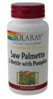 SOLARAY Saw Palmetto и корень крапивы с тыквой дополнения, 780 мг, 90 граф