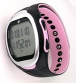 GSI Quality Women's Waterproof Exercise Monitor Wrist Watch With Data Memory - Measures Distance, Time, Steps, Fat And Calories Burned - For Running, Jogging and Walking, Chronograph Stopwatch And Alarm Functions-Pink from GSI