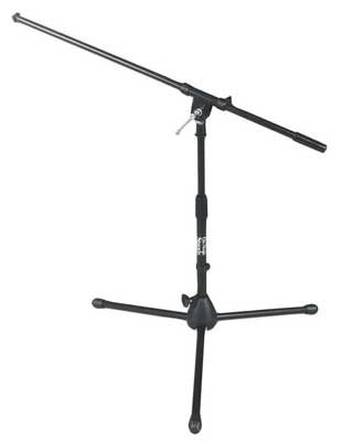 (On-Stage MS7411B Short Drum/Amp Tripod Microphone Stand with Boom, Black)