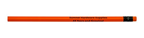 Pencil Guy Promotional Personalized Imprinted Neon Round Pencils Neon Red 144 to a -