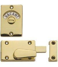 Bathroom Vacant Engaged Indicator Door Bolt Brass Plated Amazon