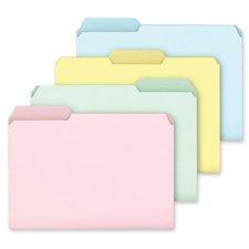 Pendaflex Pastel Color File Folders, 1/3 Cut Top Tab, Letter, Assorted, 100/Box Pastel Color File Folders