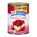 Comstock Pie Filling Or Topping Red Ruby Cherry 21 OZ (Pack of 24)