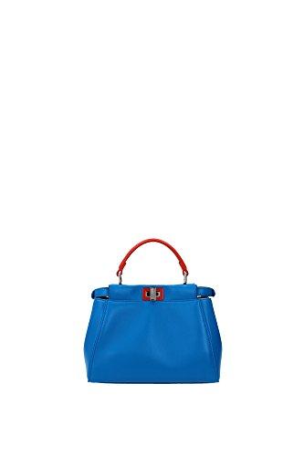 8BN24468HF078B Fendi Hand Bags Women Leather Blue
