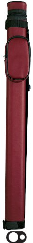 Burgundy Shaft Case Tube (Action Vinyl Pool Cue Case (1 Butt and 1 Shaft), Burgundy)