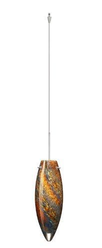 Besa Lighting XP-4096CE-SN 1X50W Gy6.35 Juliette Pendant with Ceylon Glass, Satin Nickel Finish
