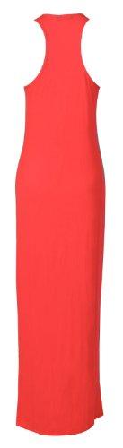 Fast sans nageur dos Maxi Fashion manches Corail robe 7rtrq