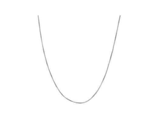 Sterling Silver 1.mm Box Chain (16, 18, 20, 22, 24, 30 or (22 Sterling Box Chain)