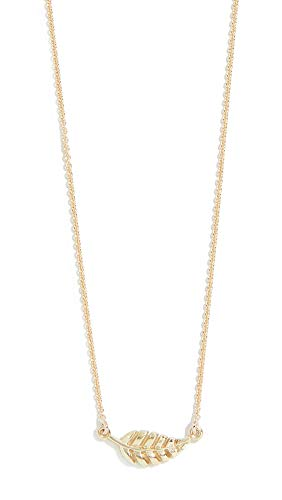 Jennifer Meyer Jewelry Women's 18k Gold Mini Leaf Necklace, Gold, One Size ()
