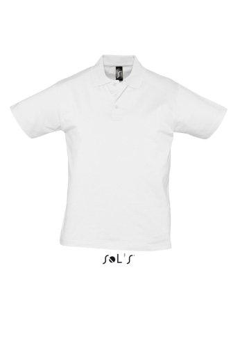 SOL´S Men Polo Shirt Prescott, Größe:3XL, Farbe:White