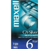 Maxell 4 Pack High Quality GX-Silver T-120 VHS