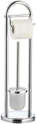 WV-B/ürstenhalter mit WC-Papierrollenhalter aus Eisen axentia WC-Garnitur Emil in Silber rostfreies WC-Accessoire verchromt