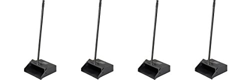 Carlisle 36141003-1 Pivoting Upright Lobby Dustpan with Metal Handle, 30'' Length, Black (4-(Pack)) by Carlisle