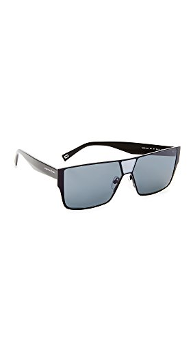 Marc Jacobs Women's Flat Top Sunglasses, Black/Grey Blue, One - Marc Jacobs Marc Shades By