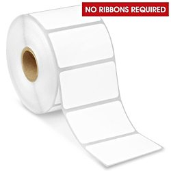 "Direct Thermal Labels (1 Roll) 1000 Printer Paper Shipping Adhesive Stickers | 2.25"" x 1.25"" Business Perforated Labeling System 