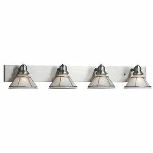 Dolan Designs 634-09 4Lt Bath Satin Nickel Craftsman 4 Light Bathroom Fixture, ()