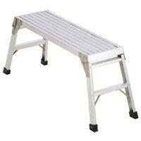 Work Platform, Fold-Up, Aluminum, 20-9/16 In H