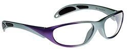 Avant-Guard X-Ray Radiation Protection Glasses, 0.75mm Pb Equivalency Lens, Purple/Gray by Colortrieve