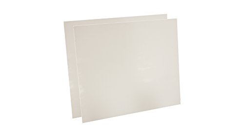 Sterling Seal 7530.5012x12x2 7530 Virgin Teflon Sheet, 1/2'' Thick, 12'' x 12'' (Pack of 2) by Sterling Seal & Supply
