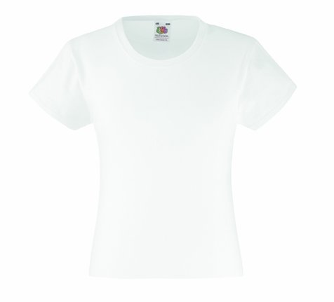 Mädchen T-Shirt Girls Kinder Shirt - Shirtarena Bündel 152,Weiß