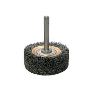 Weiler 86150, Nylox Bore-Rx Crosshole Deburring Brush, 3 Dia x 1 Len, 120 Grit, Ceramic Fill (2 Units)