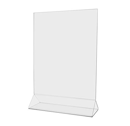 "Marketing Holders 11"" w x 14"" h Table Ad Frame Top Load Menu Promo POP Display Signage Stand Clear Acrylic 1 Pack of 8"