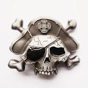 Boucle ceinture tê te de mort pirate Bones pour laniè res universelles AMT CUSTOM 23/OC023