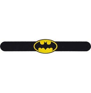 DC COMICS BATMAN LOGO, Officially Licensed Original Artwork, Slapband Wristband (Licensed Wristband Bracelet)