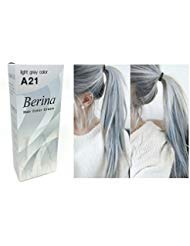 (Berina A21 Light Grey Silver Permanent Hair Dye Color Cream Unisex - Punk Style)