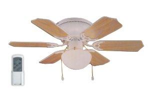 Agitatore ventilatore da soffitto in legno noce scuro lampada c