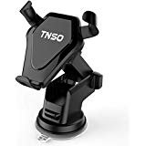 TNSO Wireless Car Charger Mount, Gravity Linkage Charging for iPhone X, 8/8 Plus Samsung Galaxy S8, S7,S6/S7 Edge, Note 8 5 & Qi Enabled Devices