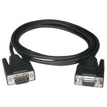 C2g 15Ft Db9 M/F Extension Cable - Black - Db-9 Male Serial - Db-9 Female Serial - 15Ft - Black