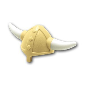Lego block parts Viking helmet: [Tan / Tan] [parallel import goods]
