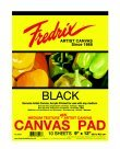 Fredrix Primed Canvas Pad - 18 x 24 in. - Black