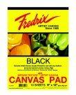 Fredrix Primed Canvas Pad - 18 x 24 in. - Black ()