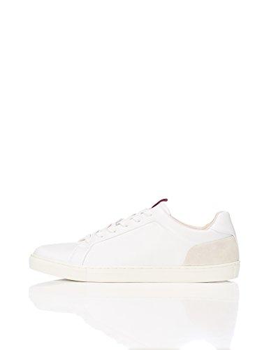 Cuir Basses Homme En Blanc Find white Baskets P70wqTna