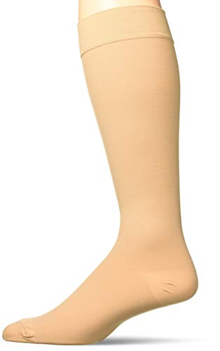 Truform 15-20 mmHg Compression Stockings for Men and Women, Knee High Length, Closed Toe, Beige, X-Large
