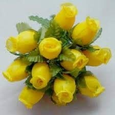 (NST 144 Poly Rose Silk Favor Flower,)
