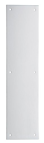 Ives 8200 4 X 16 US32D Stainless Steel Push Plate, 4'' x 16'' by Schlage Lock Company